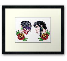 Zombie lovers Framed Print