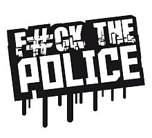 Fuck The Police Graffiti Stempel by Style-O-Mat