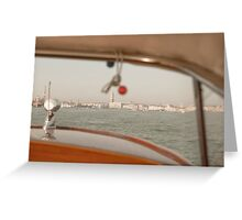 Taxi boat Greeting Card