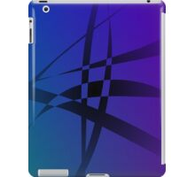 Cool Blue Purple Black Abstract iPad Case/Skin