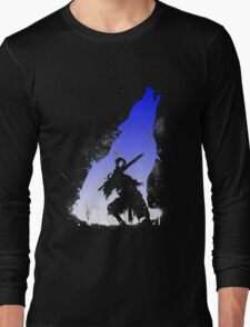 The walker of abyss VERSION WHITE/BLU Long Sleeve T-Shirt