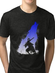 The walker of abyss VERSION WHITE/BLU Tri-blend T-Shirt
