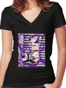 Urban Alphabet J Women's Fitted V-Neck T-Shirt