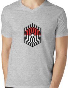 Screened Pokeball Mens V-Neck T-Shirt