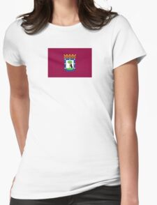Flag of Madrid  Womens Fitted T-Shirt