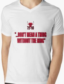 72-10 DON'T MEAN A THING WITHOUT THE RING Mens V-Neck T-Shirt