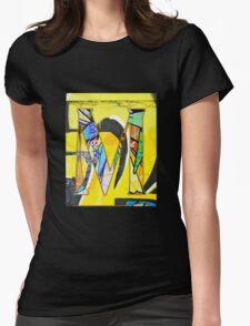 Urban Alphabet M Womens Fitted T-Shirt