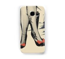 Black Heels with Red Ribbon, Fishnet Bodystocking Girl Samsung Galaxy Case/Skin