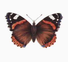 Red Admiral Butterfly One Piece - Long Sleeve