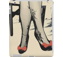 Black Heels with Red Ribbon, Fishnet Bodystocking Girl iPad Case/Skin