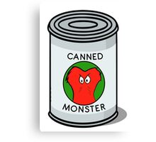 CANNED MONSTER Canvas Print
