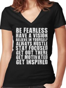 Be Fearless Women's Fitted V-Neck T-Shirt