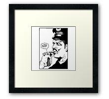 Raymond Pettibon - Faggot Framed Print