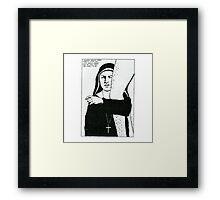 Raymond Pettibon - Nursing Framed Print