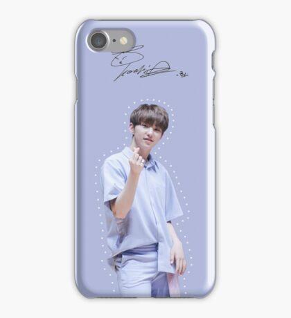 Pastel Blue Hoshi [[Signature]] iPhone Case/Skin