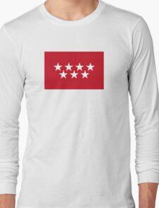 Flag of the Community of Madrid Long Sleeve T-Shirt