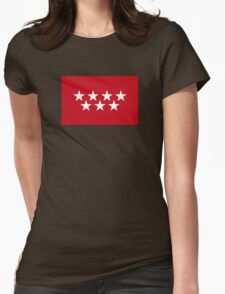 Flag of the Community of Madrid Womens Fitted T-Shirt