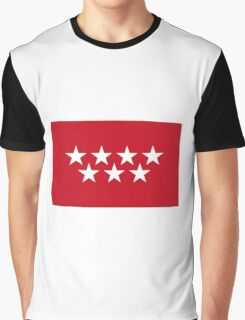 Flag of the Community of Madrid Graphic T-Shirt