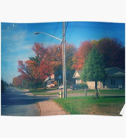 Vintage Fall Scene Poster