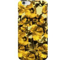 Happy Yellow HollyHock Design iPhone Case/Skin