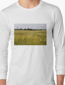 Golden Wheat Harvest, Ripening In The Wind Long Sleeve T-Shirt