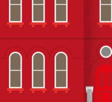 Red House Sticker