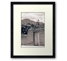 Stone Gate With Mount Cotacachi in the Background Framed Print