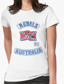 rebel MC supporter  Womens Fitted T-Shirt