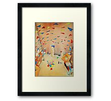 Paper Planes and Fans Framed Print