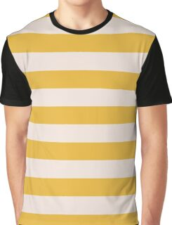 Yellow and Natural Gold Stripes Collection Graphic T-Shirt