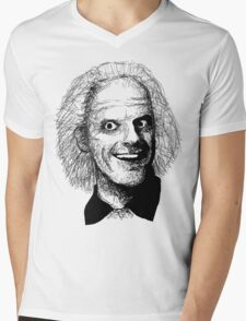 Doc Brown Mens V-Neck T-Shirt