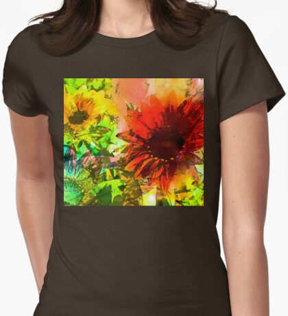 Sunflower 5 Womens Fitted T-Shirt