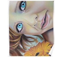 Blue eyed girl Poster