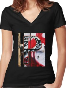 Urban Alphabet P Women's Fitted V-Neck T-Shirt