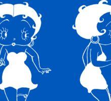 Betty Boop Patent - Blueprint Sticker