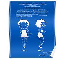 Betty Boop Patent - Blueprint Poster