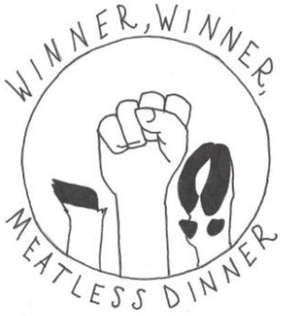 Winner, Winner, Meatless Dinner Sticker
