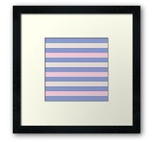 Elegant Pink and Purple fashion Stripes Navy Pastel Eco Collection Framed Print