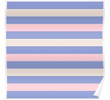 Elegant Pink and Purple fashion Stripes Navy Pastel Eco Collection Poster
