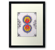 The School Figure Mandala Framed Print