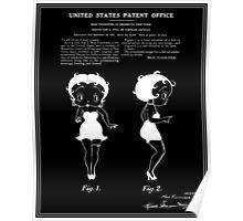 Betty Boop Patent - Black Poster