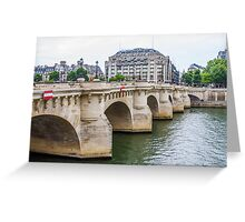 for Micahel, Pont Neuf Greeting Card