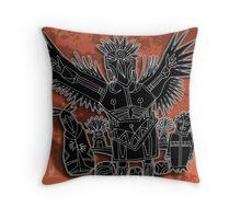 crow shaman Throw Pillow