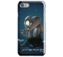 bigger than fears iPhone Case/Skin
