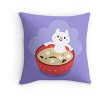 Miso Cat Throw Pillow