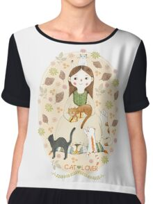 Cat Lover Chiffon Top