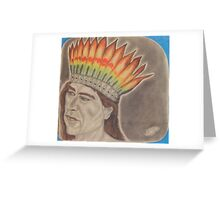 Chief Powhatan Greeting Card