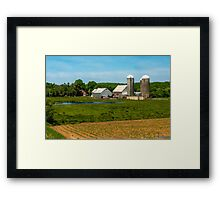 Farm in Scotch Village Framed Print