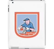 Bricklayer Mason Plasterer Worker Cartoon iPad Case/Skin