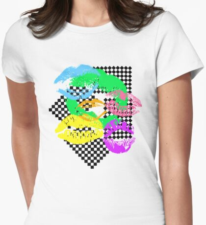 80s Wonderland Womens Fitted T-Shirt